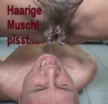 Dunkle haarige haarige Muschi