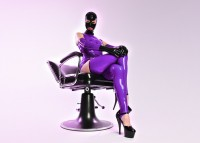 Latex-Izzy - Bizarre Latex Lady beim Latex Sex privat