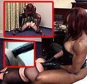 BIG BLACK Strapon fuck mit Mistress Treasure