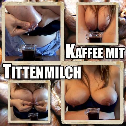 Kaffee mit Muttermilch - Dicke Milchtitten melken
