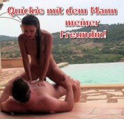Quickie am Pool mit Mann meiner Freundin